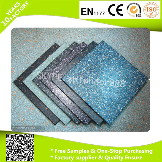 Rubber Colorful Yoga Mat Soft Flooring Tiles pictures & photos