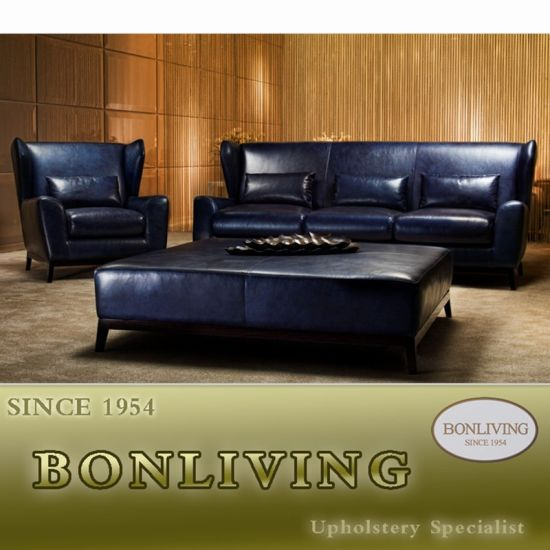 Modern Top Grain Leather Sofa (C12)
