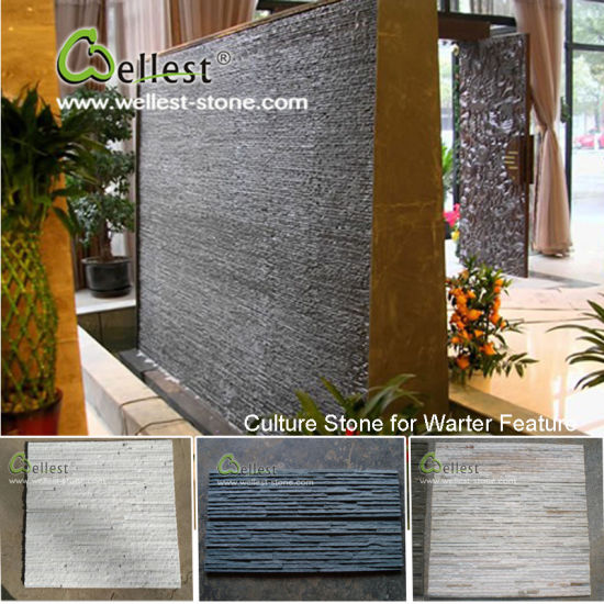 Natural Slate Wall Stone Panel Natural Stone Veneer for Interior/Exterior Wall Cladding pictures & photos