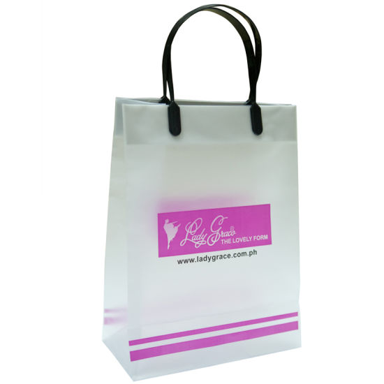 2015 Plastic Bag, Clip Handle Bags, Shopping Bags, Gift Bags, Promotional Bags (HF-175)