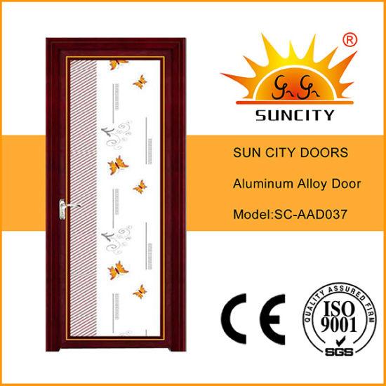 Factory Price Top Sales Single Swing Glass Aluminum Doors (SC-AAD037)