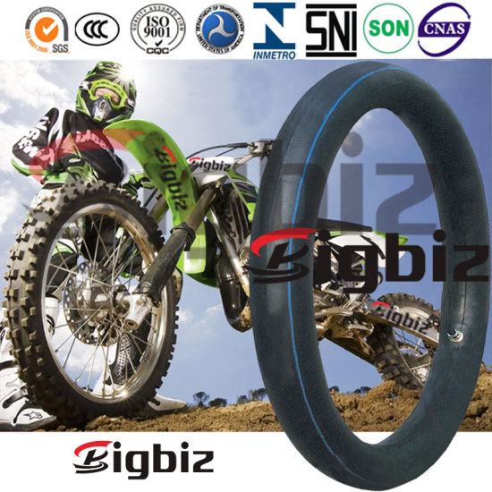 Qingdao Factory Supply Natural/Butyl Rubber Motorcycle Inner Tube.