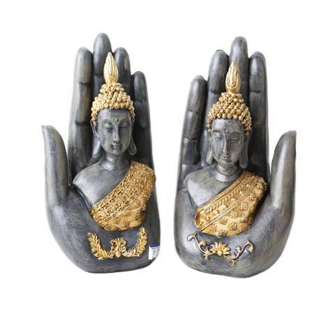 2020 Hotsell Big Tabletop Inner Heart Peaceful Meditating Buddhist in Hand Resin Thai Buddha Statue