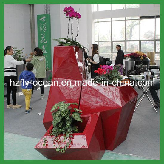 Large Decorative Fibergl Plant Flower Pot
