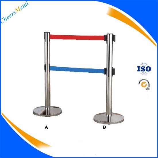 Airport Metal Retractable Belt Queue Pole Barriers Gate