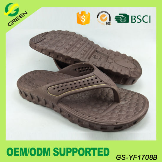 Men Casual EVA Slippers Comfortable EVA Beach Flip Flop (GS-YF1708) pictures & photos