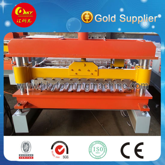 Hky 25-205-820/1025 Color Steel Wall and Roof Panel Roll Forming Machine Auto-Production Line