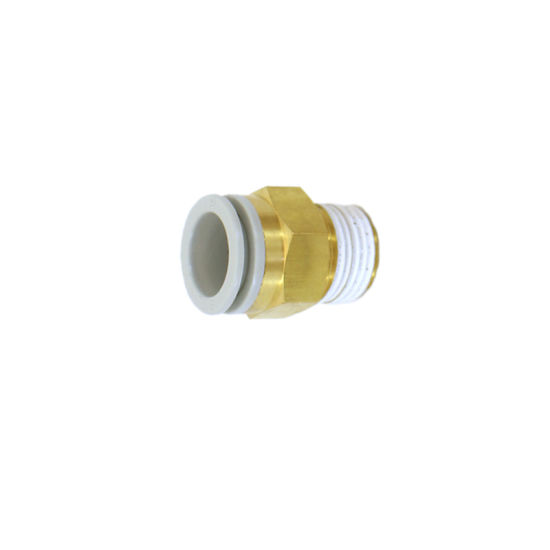 Pneumatic Fittings PC Male Connector Straight Fitting Brass Copper Fitting pictures & photos