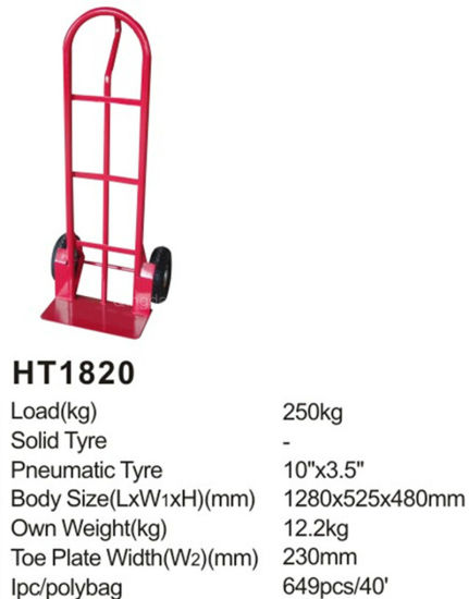 Hot Sale Heavy Duty Ht1820 Hand Trolley pictures & photos