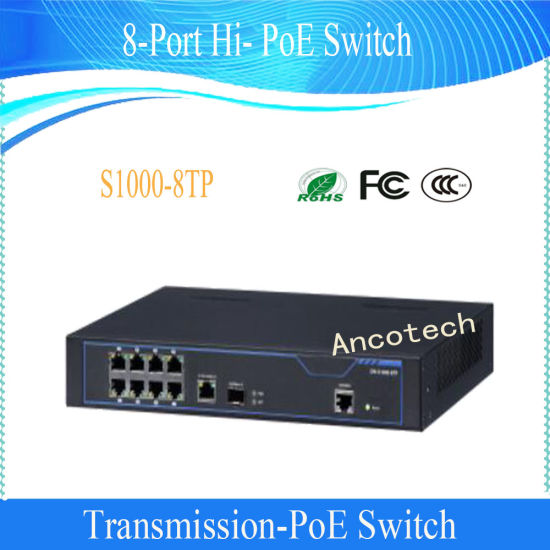Dahua Security CCTV Two-Layer 8-Port Hi-Poe Switch (S1000-8TP)