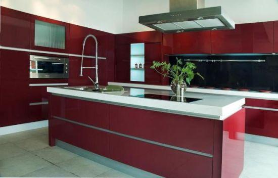 Modern European Style Kitchen Cabinet Fashion Home Furniture Gf12003
