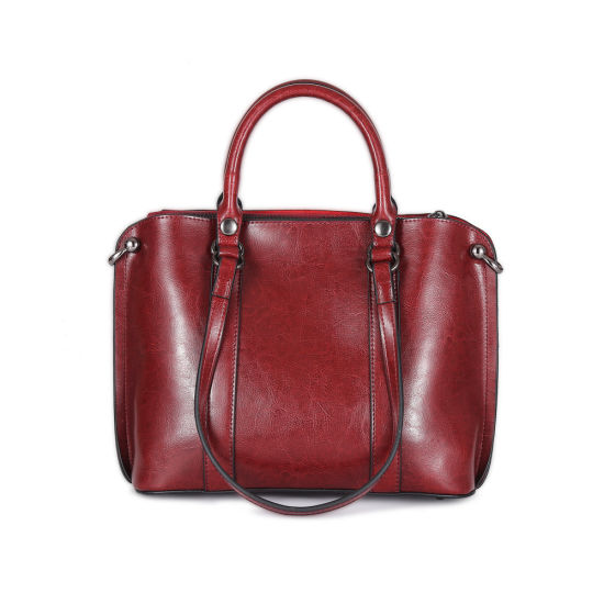 New Fashion Winter Simple Design Casual Genuine Leather Women Hand Bag