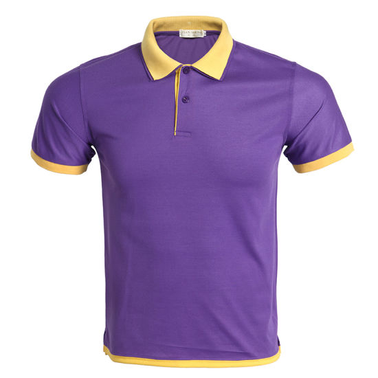Customized Wholesale High Quality Plain Mens Polo T Shirts with Customer Logo pictures & photos