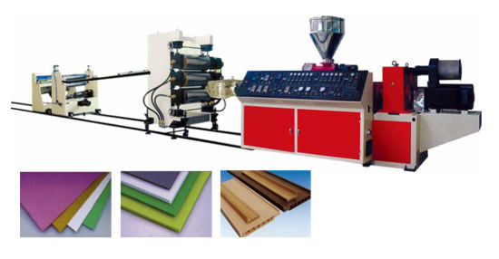WPC Foam Board Extruding Production Line pictures & photos