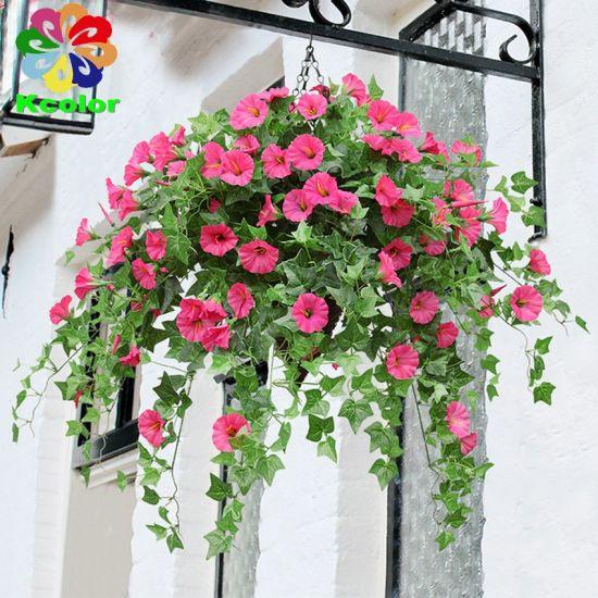 62cm Plastic Morning Glory Flower Cheap Artificial Flower Arrangements for Home Decoration