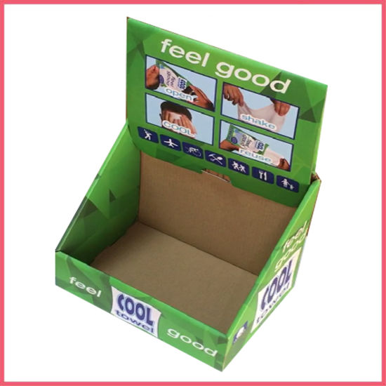 Manufacturer Custom Logo Printed Corrugated Paper Product Transport Display PDQ Packaging Carton Box Manufacturer Supplier Factory