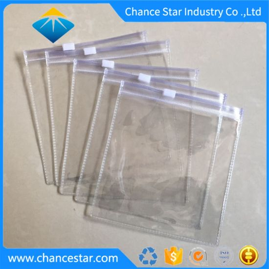 Custom Transparent Zipper PVC Packaging Plastic Bags for Textile