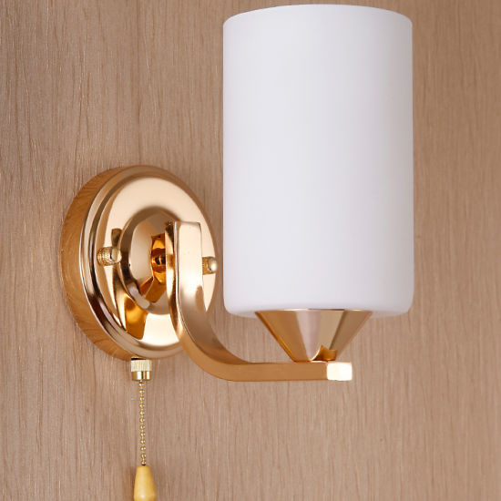 Indoor Golden Colour Double Head Type Wall Lamps For Home