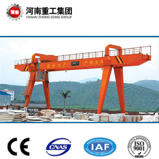 Heavy Duty 50t Box Type Double Girder/Beam Gantry Crane with Electric Trolley pictures & photos