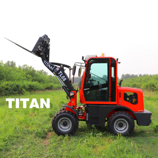 Chinese Cheap 800kg Zl08f Garden Mini Small Compact Avant Wheel Front End Loader with Ce