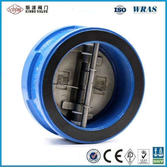 Pn16 Dn200 Ductile Iron Wafer Type Dual Disc Check Valve pictures & photos