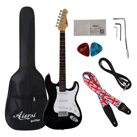Aiersi Factory Products Stock Colorful Wholesale Cheap Electric Guitar pictures & photos