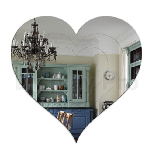 3mm Clear Heart Shape Wall Mirror pictures & photos