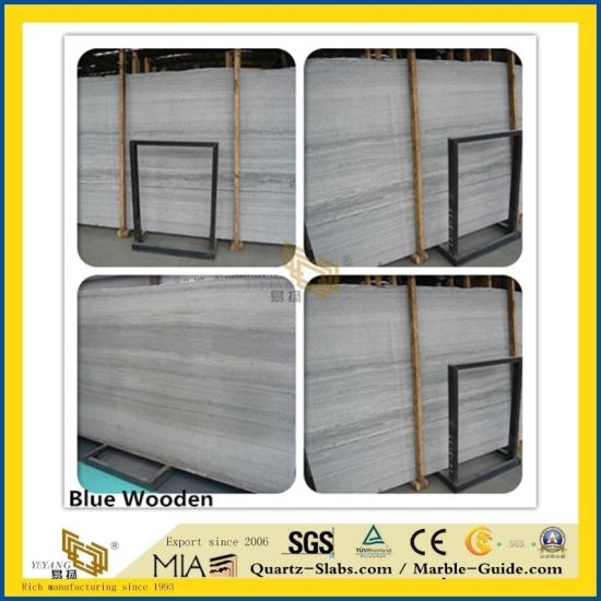 Natural Polished Grey Wooden Stone Marble for Kitchen/Bathroom/Wall/Flooring/Step/Tile/Cladding pictures & photos