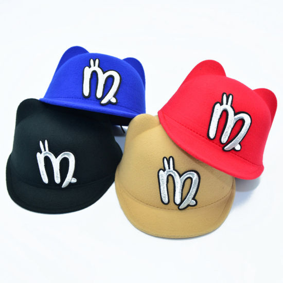 94255bb9e555f Custom Black Red Brown Blue Cute Cap Kids Baby Snapback Hat Baseball Cap.  Get Latest Price