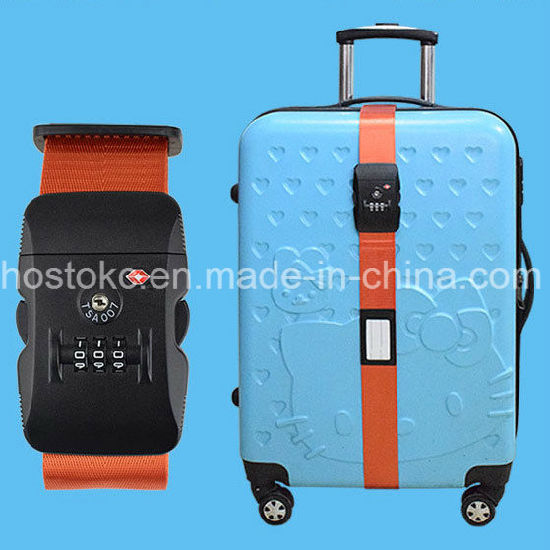 Tsa Custom Lock+Password Luggage Strap Belt pictures & photos