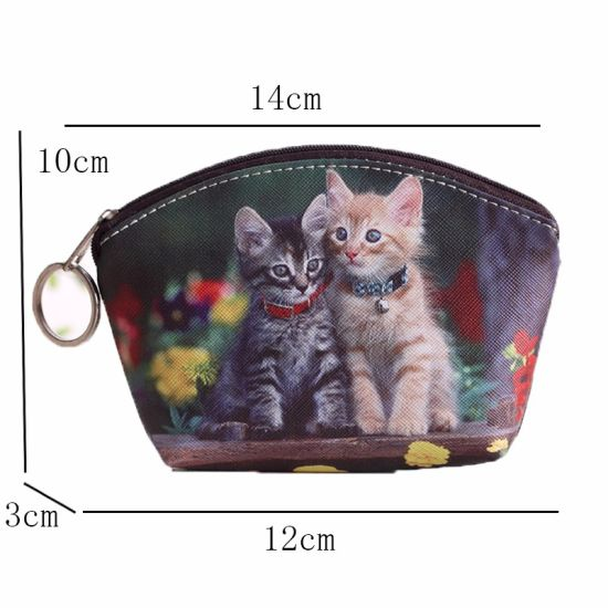 New PU Leather Cat Coin Purse Cute Kids Cartoon Wallet Kawaii Bag Coin Pouch Children Purse Holder Women Coin Wallet 15 pictures & photos