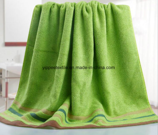100% Bamboo Fiber Bath Towel pictures & photos