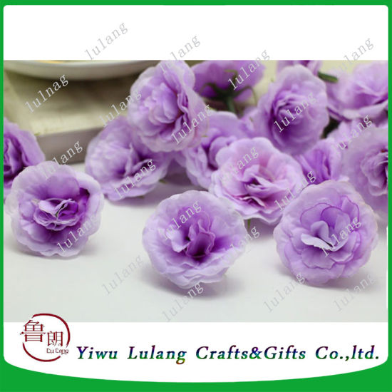 China Wholesale Artificial Flower Mini Silk Rose Heads China