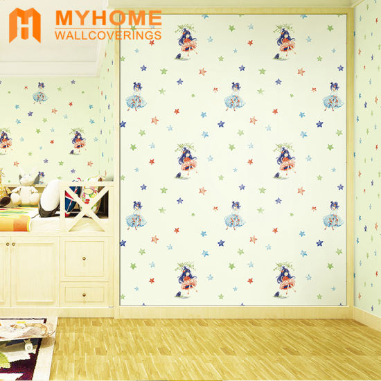 Cartoon Design Wallpaper Kids Bedroom Decor Wall Paper For Home Decoration
