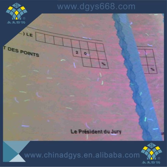 Safety Line UV Invisible Printing Certificate