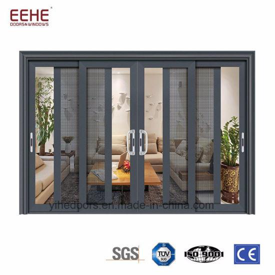Commercial Large Sliding Glass Doors, White Sliding Aluminium Patio Doors