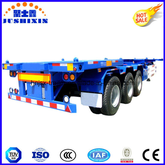 20FT/40FT/45feet 3axles Skeleton/Skeletal Chassis Utility/Cargo Utility Container Truck Tractor Semi Trailer