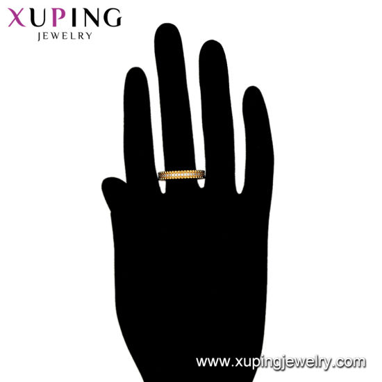 13504 Fashion Jewelry Accessory Latest 24K Gold Plated CZ Finger Ring pictures & photos