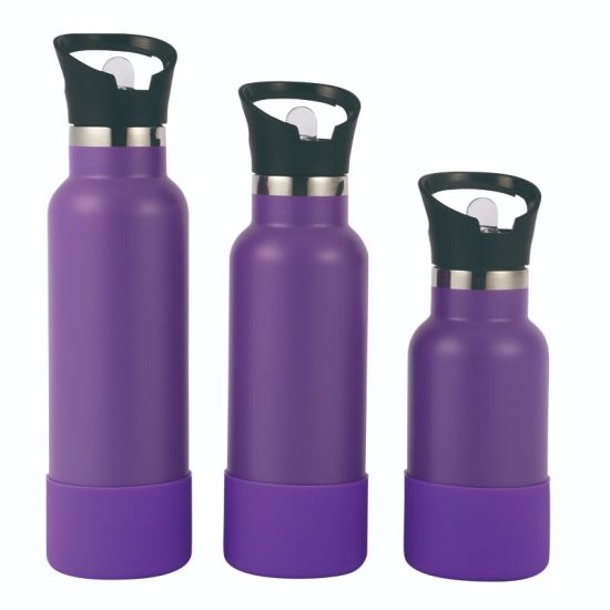 Double Wall Stainless Steel 18/8 Insulated Vacuum Sport Bottle, Vacuum Flask with Sport Lid