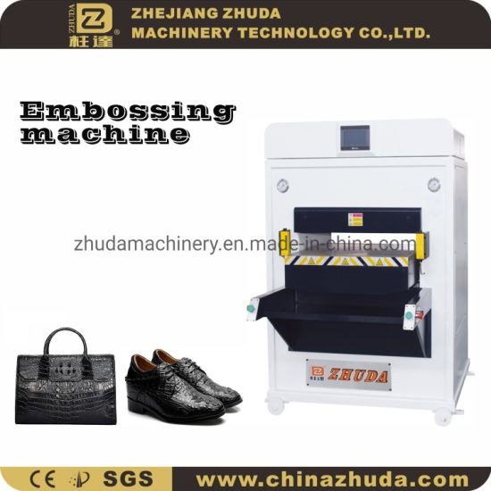 Large 220T Intelligent Automatic Hydraulic Embossing Machine For Leather