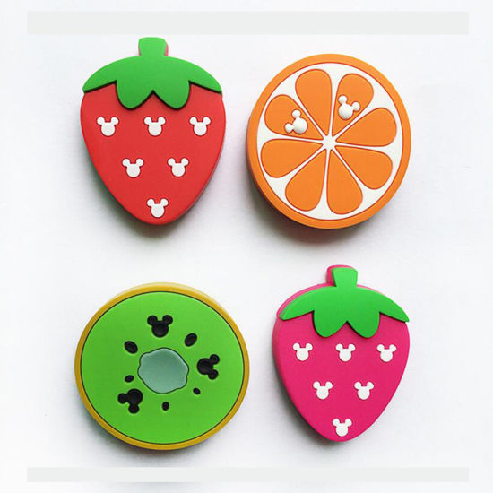 Fruit Shaped 3D Raised Soft PVC Fridge Magnet Sticker pictures & photos