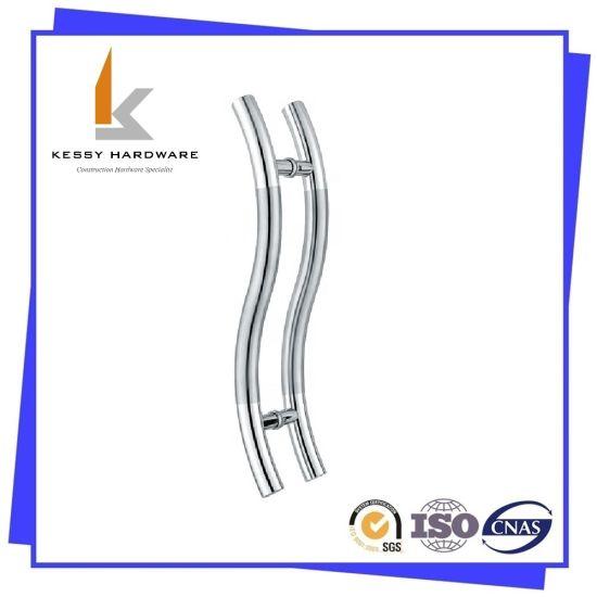 Ss Stainless Steel Pull Handle for Wood Door and Glass Door