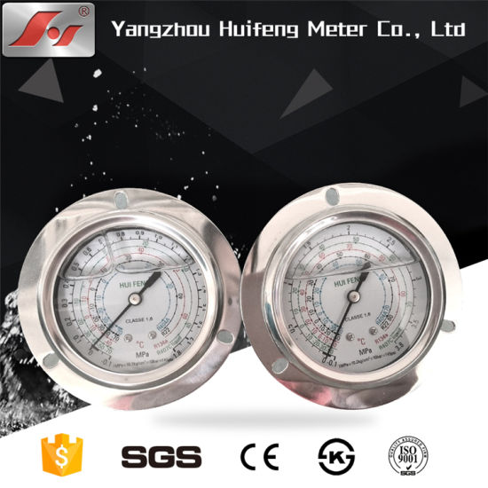 Hydraulic Tire Temperature Ss Pressure Gauge for Water/ Air/ Gas