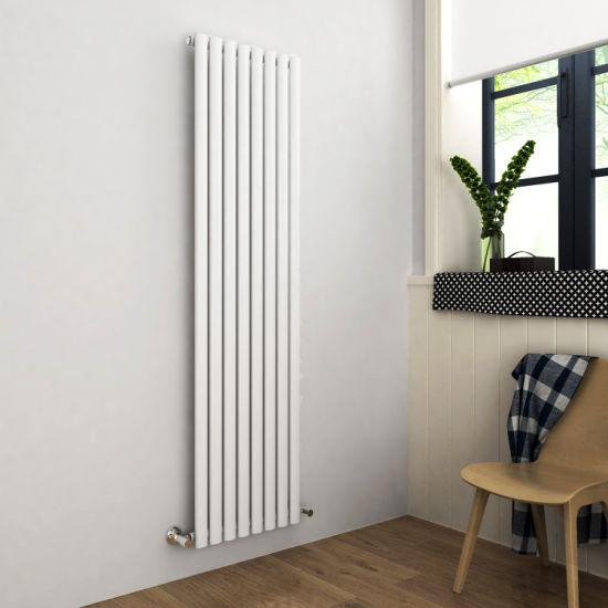 1800 X 480 Mm Vertical Column Designer Radiator White Double Flat Panel Central Heater Radiators