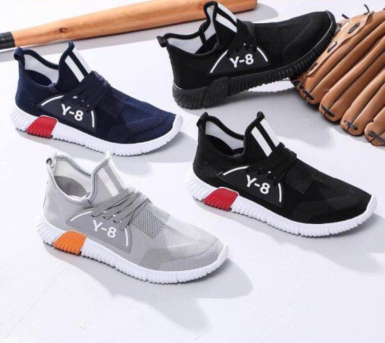 2019 Spring Fly Weave Fashion Breathable Casual Mesh Men Shoes