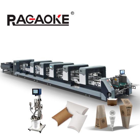 Automatic Food Packaging Box Carton Folding Gluing Paper Box Making Machine (1100XL)