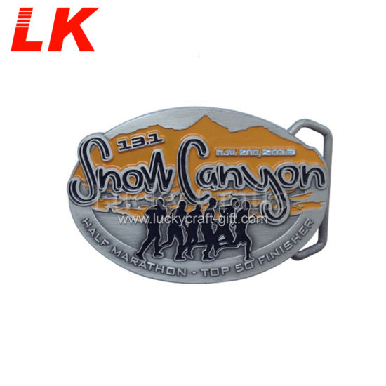 Factory Promotion Souvenir Gifts Wholesale Fashion Custom Made Design Logo Zinc Alloy Soft Enamel 3D Man Military Metal Belt Buckle China