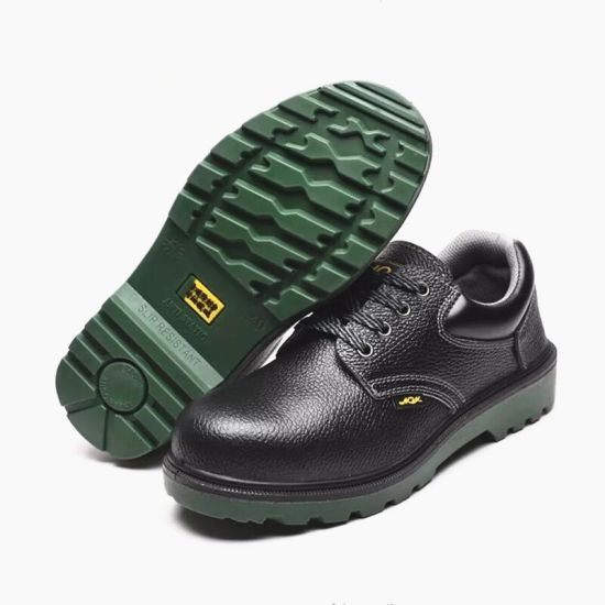 Cow Leather Safety Shoes Anti-Smashing Anti Slip Safety Working Shoes