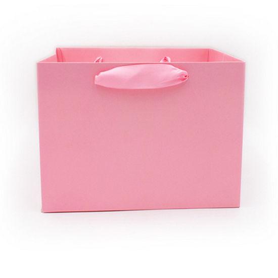 Z 268 21.5*21.5*16 Cm Wholesale Custom Printed Your Own Logo White Brown Kraft Gift Craft Shopping Paper Bag