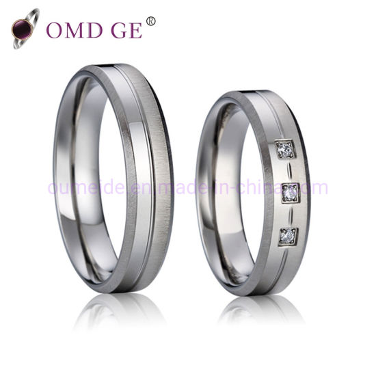 Fashion Titanium Wedding Ring Best Price Titanium Men Women Rings pictures & photos